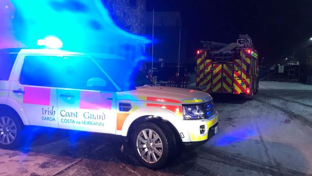 Emergency services attend to scene on Thursday evening