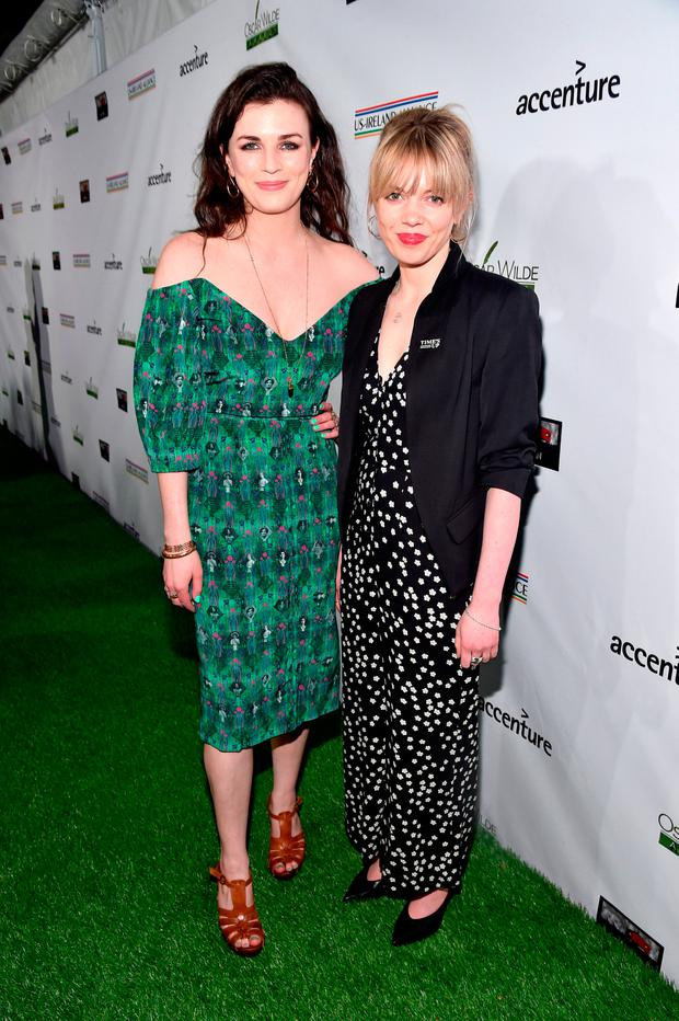 Aisling Bea (L) and Sinead O'Sullivan attend the Oscar Wilde Awards 2018 at Bad Robot on March 1, 2018 in Santa Monica, California. (Photo by Alberto E. Rodriguez/Getty Images for US-Ireland Alliance )