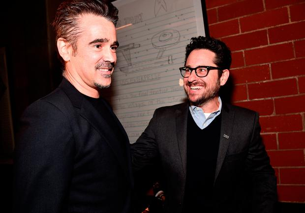 Colin Farrell (L) and J.J. Abrams attend the Oscar Wilde Awards 2018 at Bad Robot on March 1, 2018 in Santa Monica, California. (Photo by Alberto E. Rodriguez/Getty Images for US-Ireland Alliance )