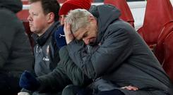 Arsenal manager Arsene Wenger has admitted his side have lost all of their confidence