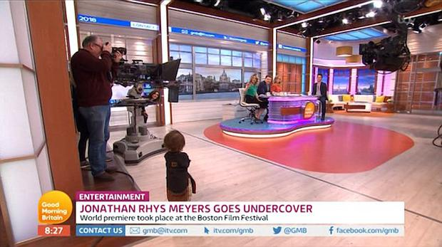 Jonathan Rhys Meyers' adorable son Wolf on Good Morning Britain