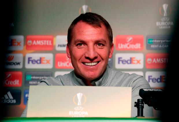 Celtic manager Brendan Rodgers. Photo credit: Andrew Milligan/PA Wire