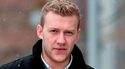 Stuart Olding arrives at court. Photo: Charles McQuillan/Getty Images