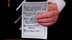 Donald Trump's infamous crib card.