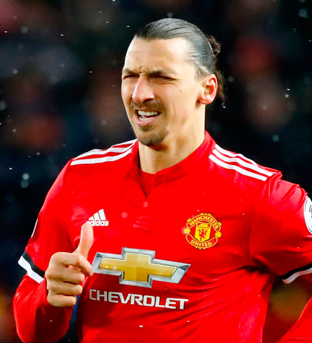 Manchester United's Zlatan Ibrahimovic. Photo: PA