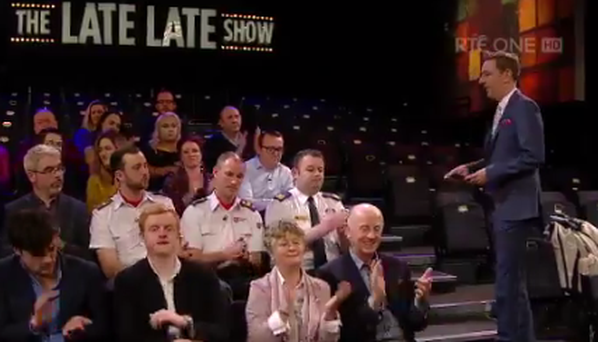 A smaller than usual Late Late Show audience Picture: Screengrab from RTÉ Player