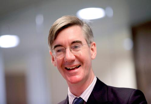 Conservative MP Jacob Rees-Mogg, who has accused Ireland and the European Union of risking a