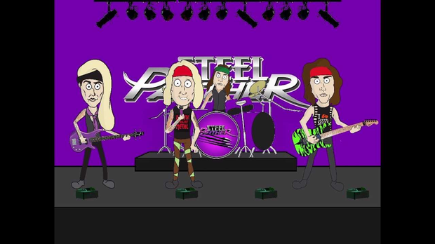 A still from Wrong Side of the Tracks (Out in Beverly Hills) by Steel Panther