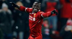 Liverpool's Sadio Mane celebrates scoring their second goal against Newcastle at Anfield (Action Images via Reuters/Carl Recine)