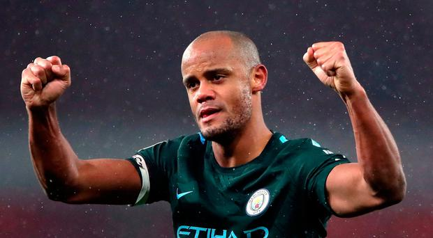 Manchester City's Vincent Kompany Photo: PA