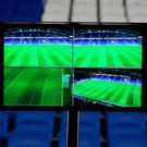 A view of a Video Assistant Referee (VAR) system pitchside. Photo: PA