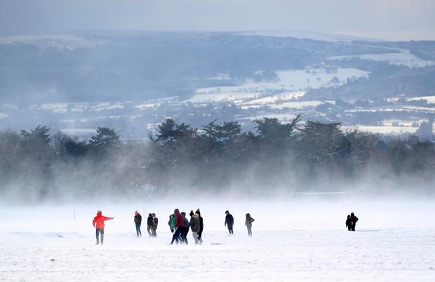 Enjoying the snow in the Phoenix Park, Dublin. Photo: Colin Keegan, Collins Dublin.