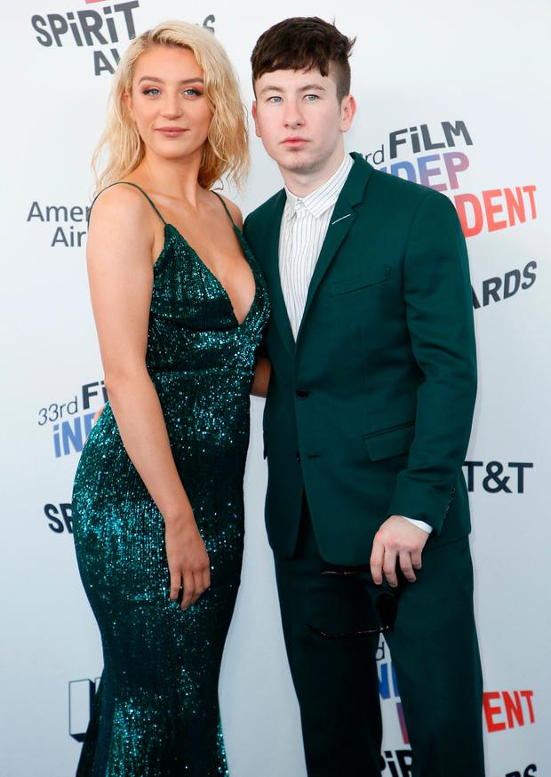 2018 Film Independent Spirit Awards – Arrivals – Santa Monica, California, U.S., 03/03/2018 – Barry Keoghan and guest. REUTERS/Danny Moloshok