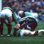 18 January 1992; Ireland's Neil Francis is attended to by the team doctor after an incident with Wales' Tony Copsey. Five Nations Rugby Championship, Ireland v Wales, Lansdowne Road, Dublin. Picture credit: Ray McManus / SPORTSFILE