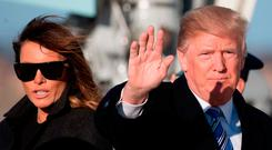 US President Donald Trump, pictured with First Lady Melania Trump, said North Korea has to 'denuke'. Photo: Jim Watson/AFP/Getty Images