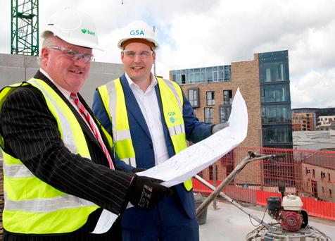 Luke Gibbons, Director BAM Buildings with Aaron Bailey, Head of Construction in Europe GSA. Photo: Colm Mahady/Fennells