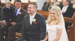 Aine and Heath finally made it to the church - Photo by Jimmy Kilgallen Photography