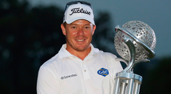 George Coetzee with the Tshwane Open trophy. Photo: Getty Images