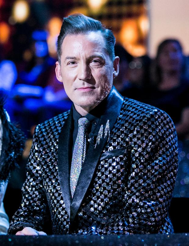 Judge Julian Benson during tonight's RTE's Dancing with the Stars Pic credit: kobpix