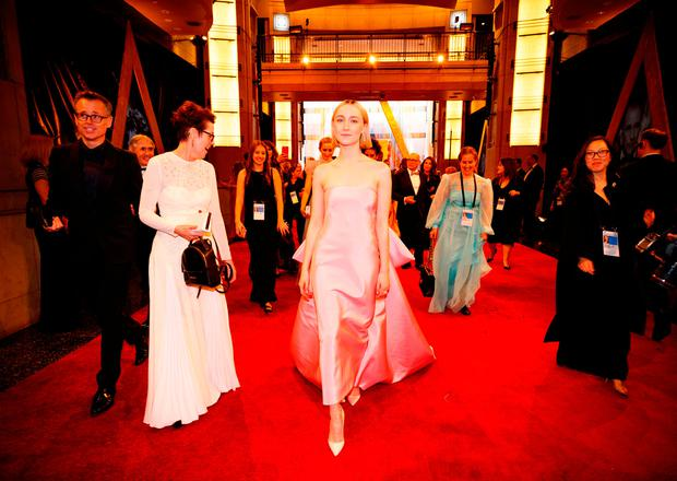Saoirse Ronan attends the 90th Annual Academy Awards at Hollywood & Highland Center on March 4, 2018 in Hollywood, California. (Photo by Christopher Polk/Getty Images)