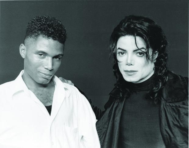 Adrian pictured with Michael Jackson