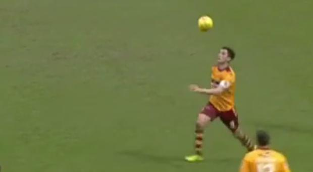 Carl McHugh unleashes an unstoppable volley