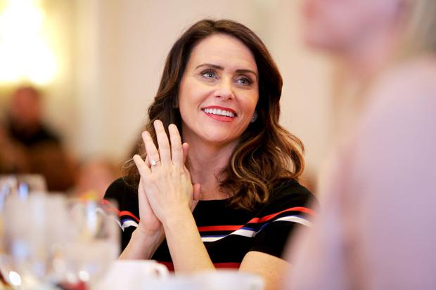 LOS ANGELES, CA - FEBRUARY 27: Amy Landecker attends EMILY's List's