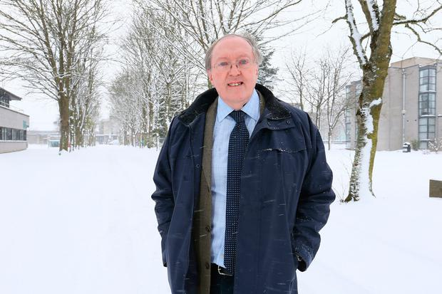 Professor John Sweney near his office on the Maynooth University campus. Photo: Frank Mc Grath