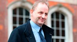 Sergeant Maurice McCabe at the Disclosures Tribunal at Dublin Castle yesterday