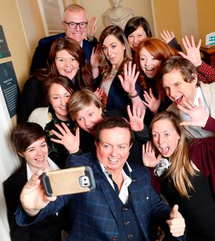 National winners of the Aontas STAR Awards with MC Marty Morrissey. Picture: Marc O'Sullivan