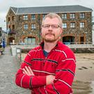 Richard Satchwell, Tina's husband, pictured at Youghal Harbour
