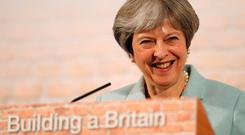 British Prime Minister Theresa May Photo: Frank Augustein/PA Wire