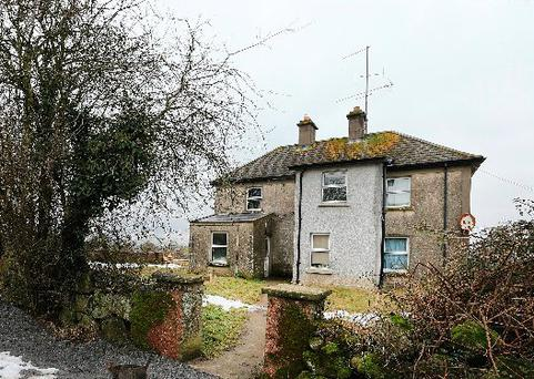 The remote farmhouse home of John Mahoney outside Nurney, Co. Carlow. Picture: Gerry Mooney