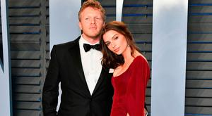 Sebastian Bear-McClard (L) and Emily Ratajkowski attend the 2018 Vanity Fair Oscar Party hosted by Radhika Jones at Wallis Annenberg Center for the Performing Arts on March 4, 2018 in Beverly Hills, California. (Photo by Dia Dipasupil/Getty Images)