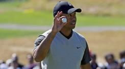 Tiger Woods is reportedly among those urging golf authorities to impose limitations on modern balls. CREDIT: AP