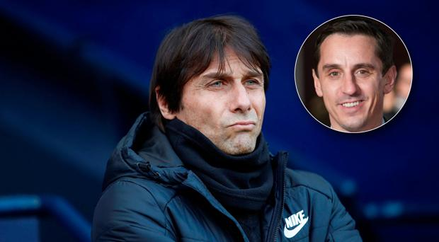 Gary Neville (inset) has criticised Chelsea again