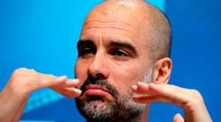 Manchester City manager Pep Guardiola not happy with his side's display against Basel. PRESS ASSOCIATION Photo. Picture date: Tuesday March 6, 2018. See PA story SOCCER Man City. Photo credit should read: Martin Rickett/PA Wire