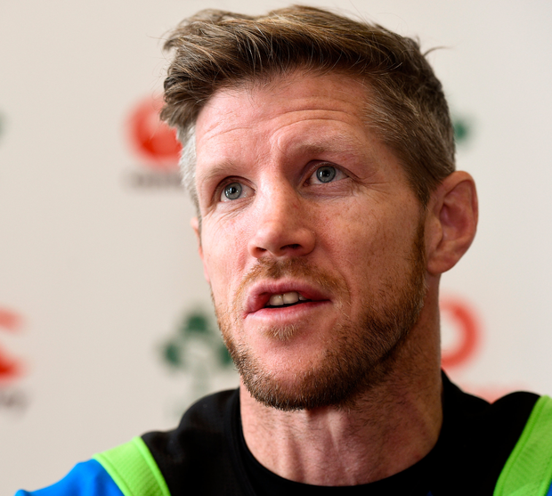 Ireland forwards coach Simon Easterby. Photo: Sportsfile