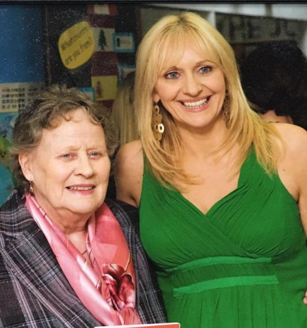 Miriam O'Callaghan with her mum Miriam