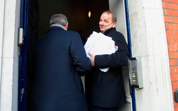 Maurice McCabe at the Disclosures Tribunal in Dublin Castle yesterday. Photo: Gareth Chaney/ Collins