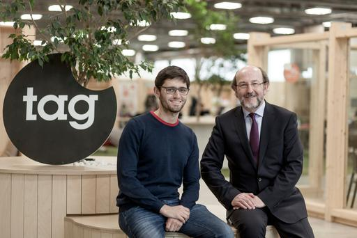 Davide Dattoli , the Talent Garden founder and chief executive, meets DCU president Brian MacCraith at Talent Garden HQ in Milan to announce the opening of a new campus in Dublin