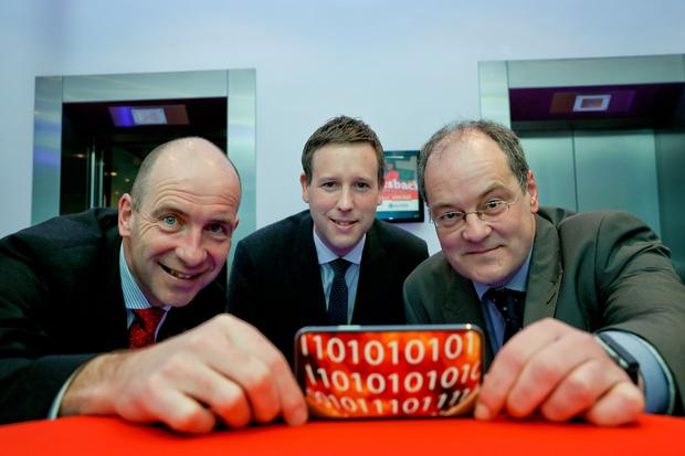 Pictured launching PwC's latest GDPR research are (l-r) Pat Moran, PwC Cyber Leader; Dale Sunderland, Deputy Data Protection Commissioner and Jeremy O'Sullivan, Head of Systems, Strategy and Business Intelligence, Jurys Inns.