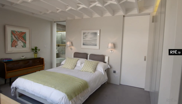 One of the bedrooms in the winner's home. Photo: RTE