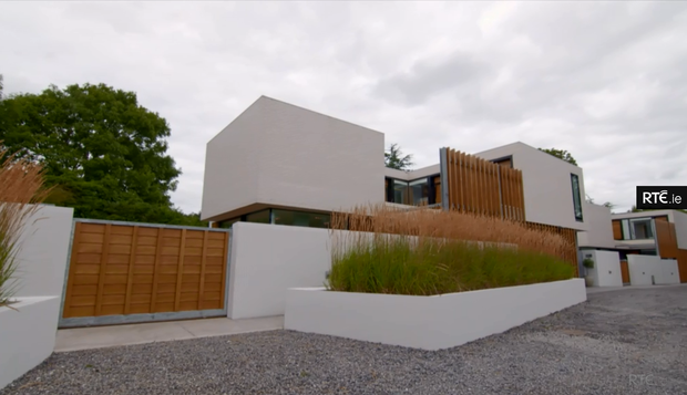 Architect Niall Henry's self-designed home in Dublin. Photo: RTE