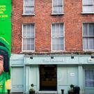 The artwork features an image of Ruby on the front of a building that is home to The Punnet Food Emporium on Lower Mount Street and a second of Faugheen, located just around the corner.