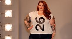 Tess Holliday attends the SimplyBe 'Curve Catwalk' photocall on September 14, 2017 in Soho, London, England. (Photo by Neil P. Mockford/Getty Images,)