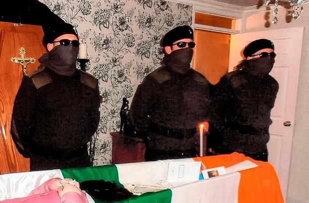 The IRA was always happy to use the tricolour when it suited, such as at republican funerals like this one