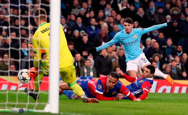 Manchester City's Brahim Diaz misses a chance to score Photo: Martin Rickett/PA Wire
