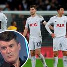 Tottenham players dejected and (inset) Roy Keane