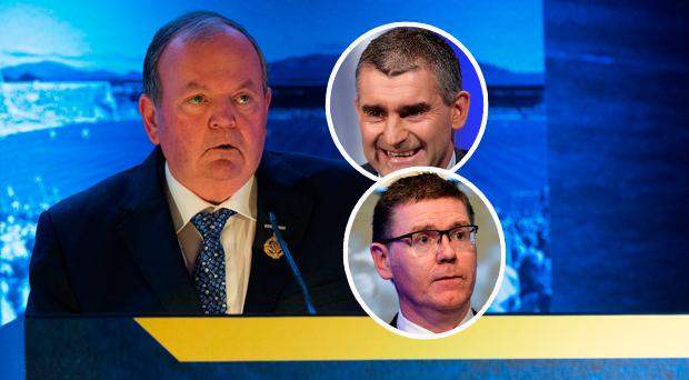 Liam O'Neill, Liam Sheedy (top right) and Tom Ryan are in contention